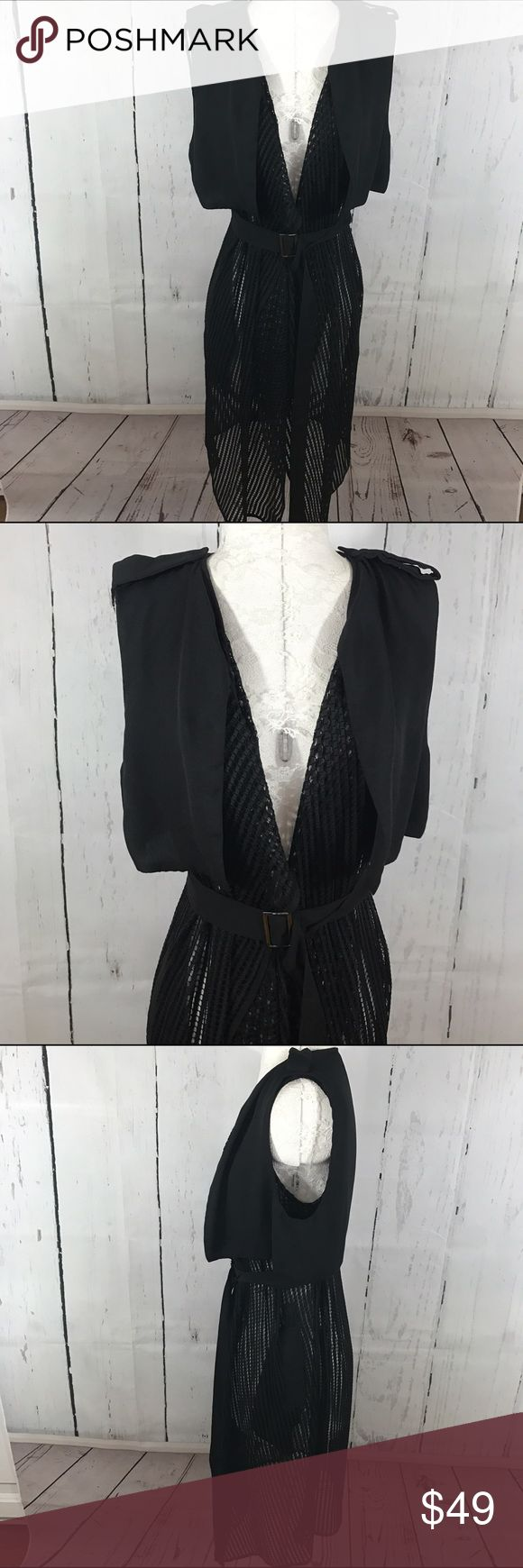 """💜💜 CAGED MINI TRENCH Condition: Euc Approximate measurements (laying flat): 16"""" bust 40"""" length  Item location: rack   **bundles save 10%** no trades/no modeling/no asking for lowest Anthropologie Jackets & Coats Trench Coats"""