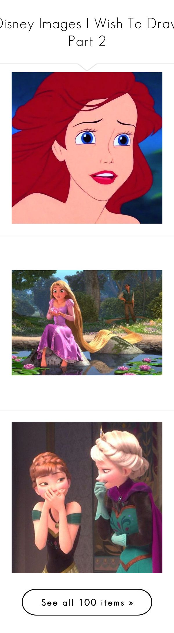 """""""Disney Images I Wish To Draw Part 2"""" by fire-and-daisies ❤ liked on Polyvore featuring disney, icons, the little mermaid, ariel, backgrounds, tangled, pictures, frozen, -pictures and icon pictures"""