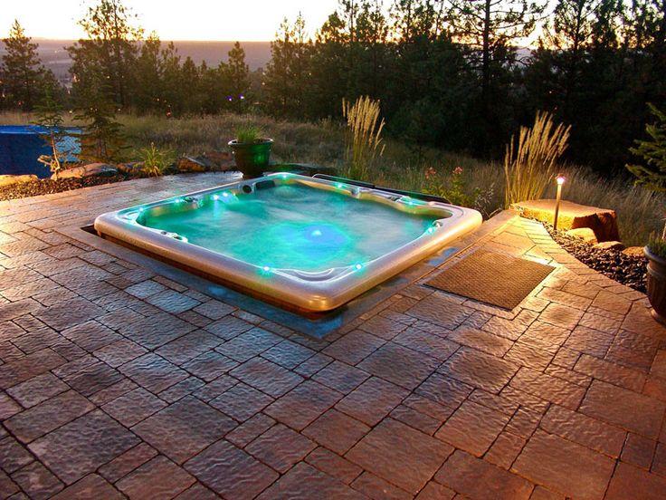 25 Stunning Garden Hot Tub Designs | Hot tub patio, Hot ...
