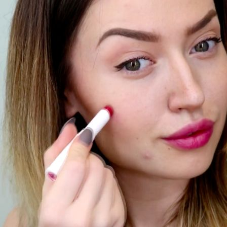 3 Ways to Use Glossier Generation G Matte Lipstick – lips, cheeks, and eyes #darbysmart #beautytips #beautyhacks #beautytricks #beautytutorial #beauty #makeuptutorial #makeuptips #makeup #lipstick #blush #eyeshadow