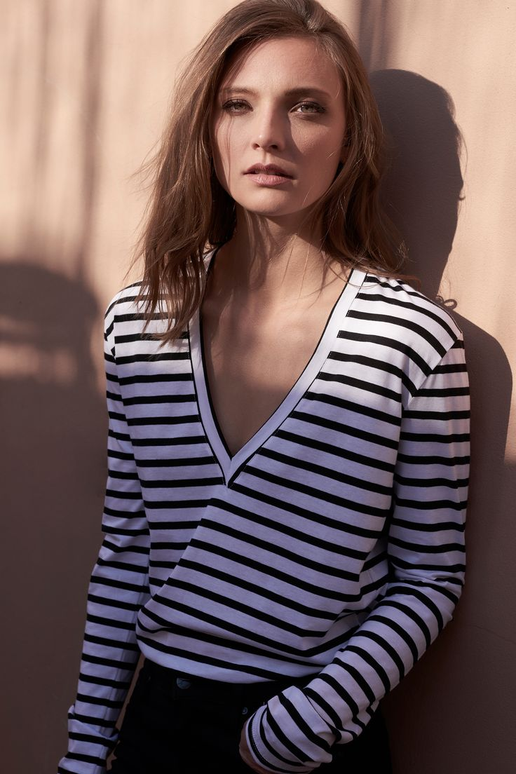 The bon Vee by bon label. Autumn 17 collection. organic. ethical fashion. made in australia. inspired by paris. good for womankind. | stripe, long sleeves, top, essentials, organic, cotton, parisian style | SHOP bonlabel.com.au