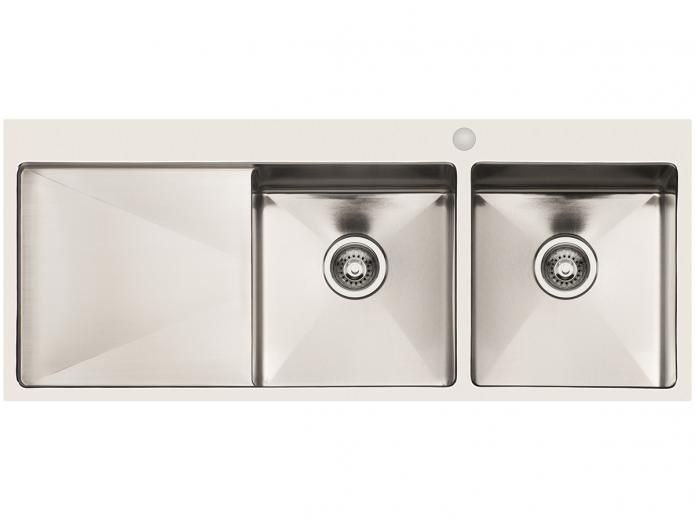 AFA Exact Double Inset sink with Left Drainer