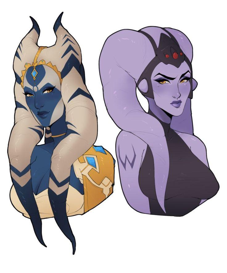 Star Wars AU - Symmetra and Widowmaker by Milkcubus
