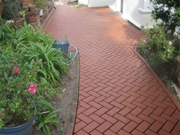 Bricks Brick paving and Brick walkway on Pinterest