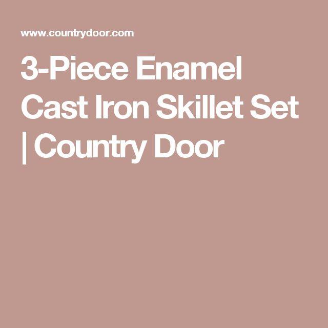 3-Piece Enamel Cast Iron Skillet Set   Country Door