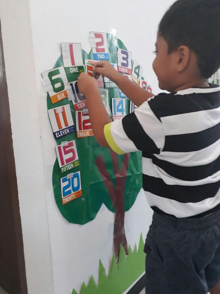 belajar berhitung dengan pohon angka