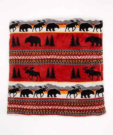 This Coral Cedar Run Fleece Throw Blanket by EARTH RAGZ is perfect! #zulilyfinds