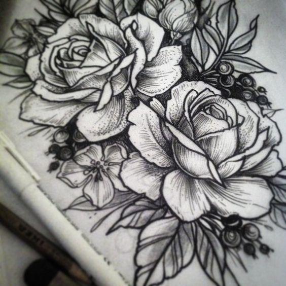 Alex Tabuns - For tomorrow ink drawing, tattoo: