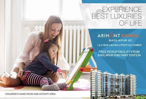 Arihant Anmol - Badlapur East 1 & 2 BHK Lavish Lifestyle Homes Children's Game Room and Activity Area http://www.asl.net.in/arihant-anmol.html #ArihantAnmol #RealEstate #Property #Badlapur #Mumbai