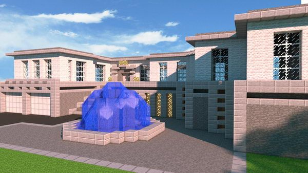 modern house idea 23 http://hative.com/cool-minecraft-house-designs/--> my fountain is cooler than that