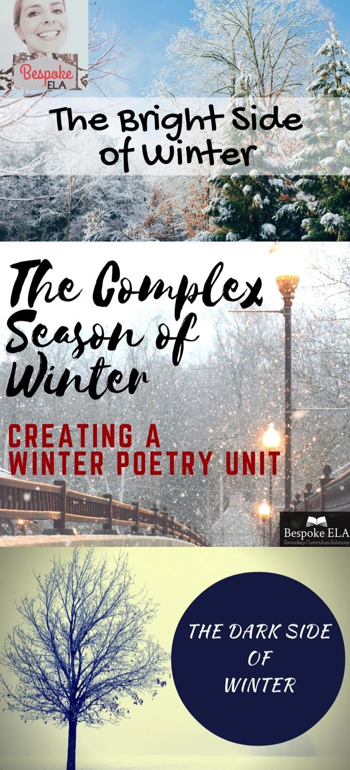 This blog shares my reflections on constructing a Winter Poetry Unit as well as my short explications of the TEN POEMS included in the Bespoke ELA Winter Poetry Unit. This is an excellent unit for December, January, and February that looks at the complex relationship of man's relationship with winter.