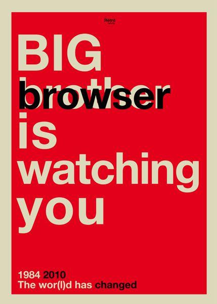Big browser is watching you by Rétrofuturs (Hulk4598) / Stéphane Massa-Bidal, via Flickr