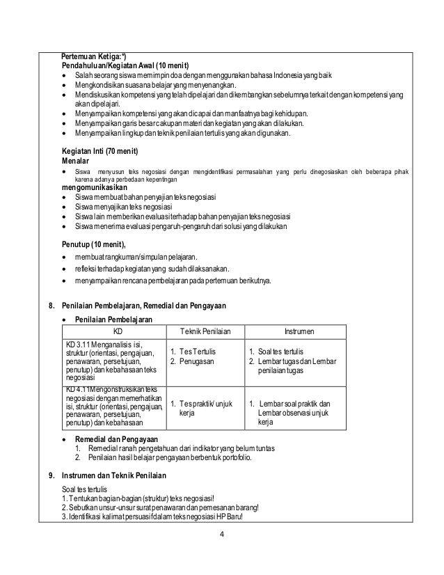 Contoh Rpp Bahasa Indonesia K13 Teks Tanda Fails