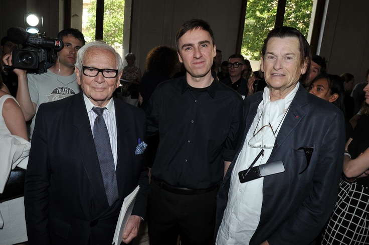 Front Row at Christian Dior, Pierre Cardin, Raf Simons and Jean-Louis Scherrer