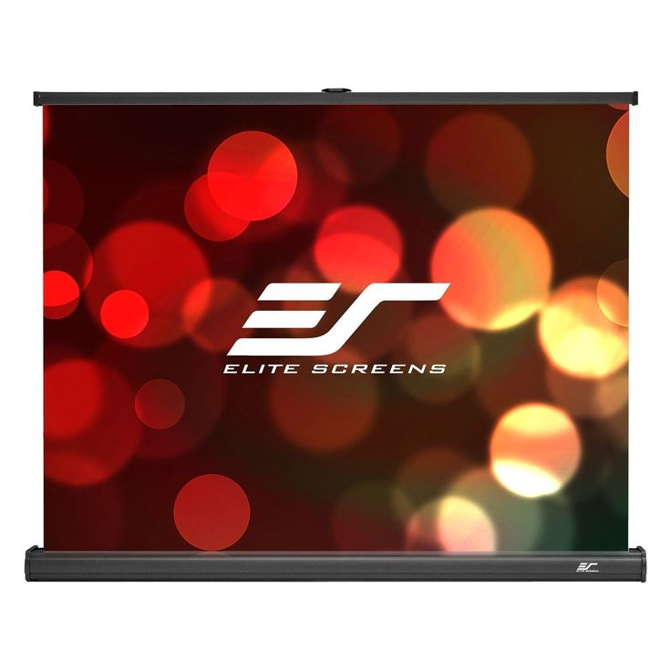 Elite Screens PicoScreen Series, 35-Inch Diagonal 4:3, Portable Tabletop Pull-Up Projection Screen, Model: PC35W