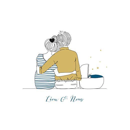 Faire-part de naissance Lovely family (4 pages) garçon