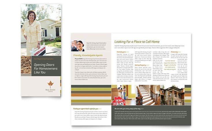 Urban Landscaping Tri Fold Brochure Design Template by - free brochure design templates word