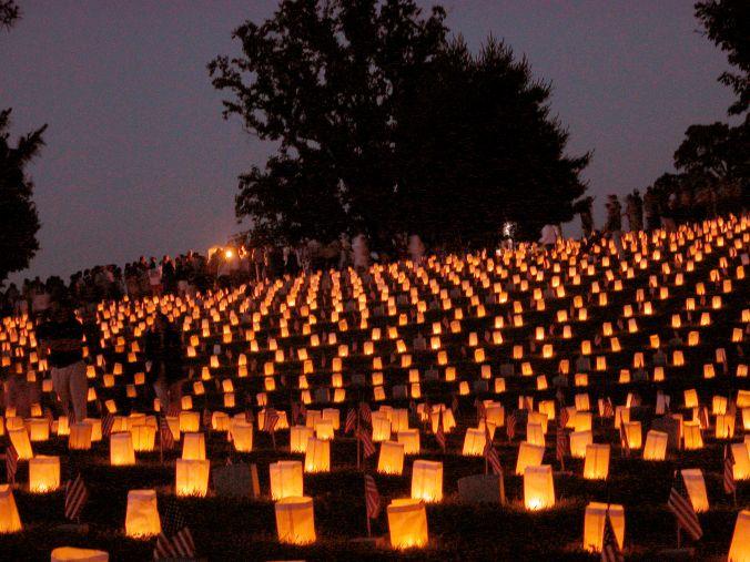 National Cemetery Luminaries on Saturday Night during M (20)