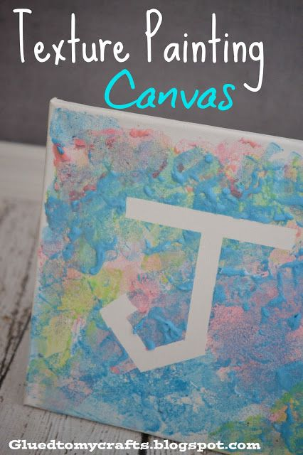 Texture Painting Canvas-Great activity for kids that only involves a few supplies