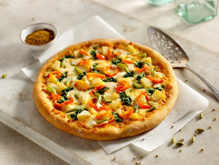 This is Panago`s new Veggie Korma pizza, and it is my new FAVORITE! Possibly the best pizza EVER!