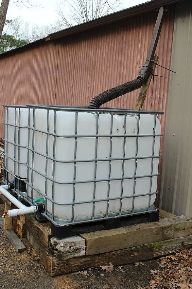 22 best images about 275 330 gal ibc 39 s on pinterest for Build a rainwater collection system