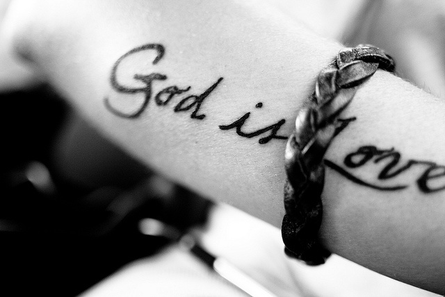God is love tattoo