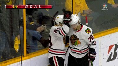 WATCH: Artemi Panarin denies Patrick Kane's playful kiss | CSN Chicago