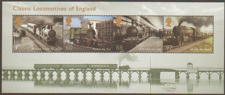 Classics Locomotives of England from the 2011 Miniature Sheet