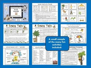 Your students will be on cloud nine with this 35 page idiom unit. Many creative activities are included! $5.00: Student, Creative Activities, Understand Idioms, Idioms Unit, Figurative Language Idioms Etc, Cloud, Classroom Language Arts, Charts Strategies Activities
