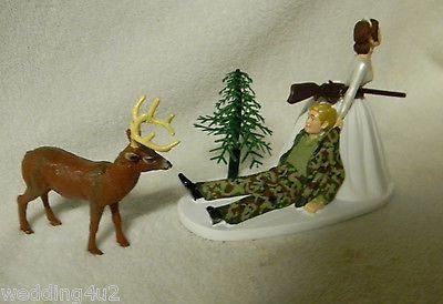 Wedding Party Redneck Cake Topper Camo Hunter Hunting Buck Deer