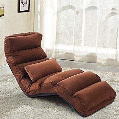 amazoncom giantex folding lazy sofa chair stylish sofa couch beds lounge chair w