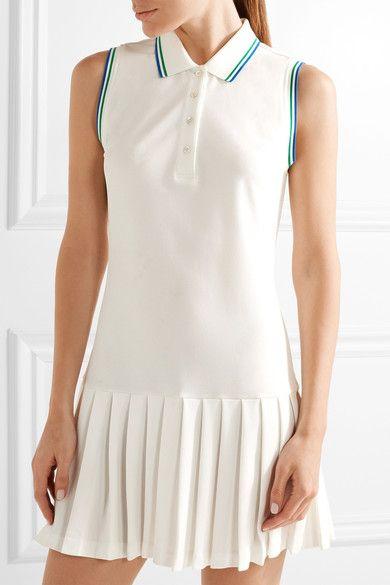 Tory Sport - Pleated Piqué Tennis Dress - White -