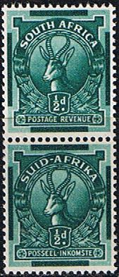 South Africa 1943 Redrawn Coil Stamp SG 105 Fine Mint Pair SG 105 Scott 98 Other South African Stamps HERE