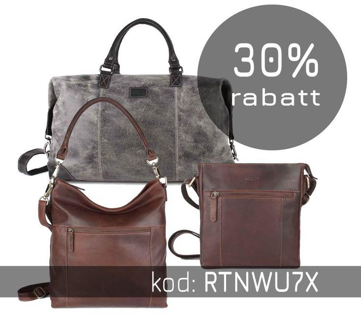 Rabattkod RTNWU7X på 30% som gäller tom söndag 22 oktober. Allt utom shoppingvagnar och resväskor.  https://bags4fun.se
