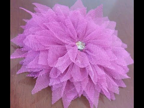 How to make beautiful tulle flower  - video tutorial