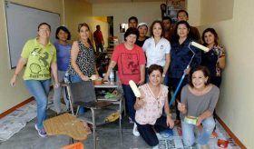 """Voluntariado del DIF Municipal dignifica la Preparatoria Abierta """"Lic. José Vasconcelos"""""""