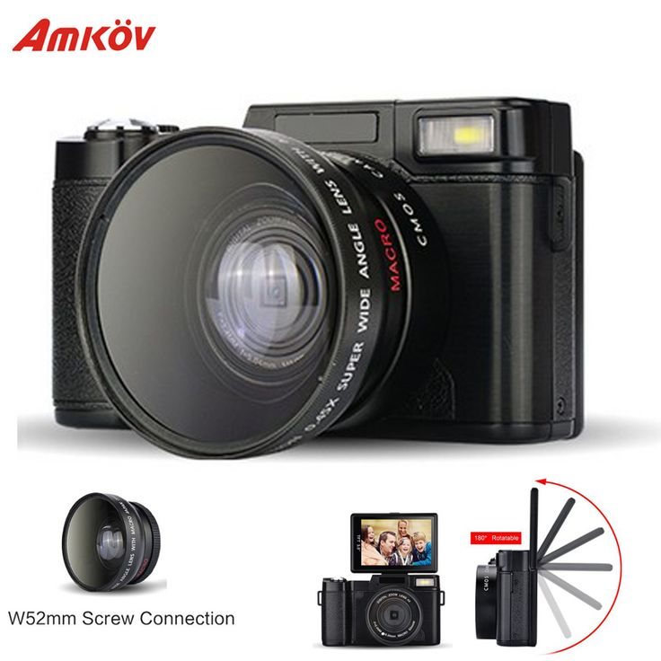 AMKR2 Digital Camera 1080P 15fps Full HD 24MP D 3.0inch  Rotatable LCD Screen Video Camcorder Wide Angle Lens Cameras //Price: $97.20      #FirstDayOfSummer