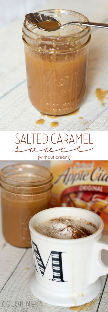 salted caramel sauce without cream for mixing into drinks and drizzling on desserts