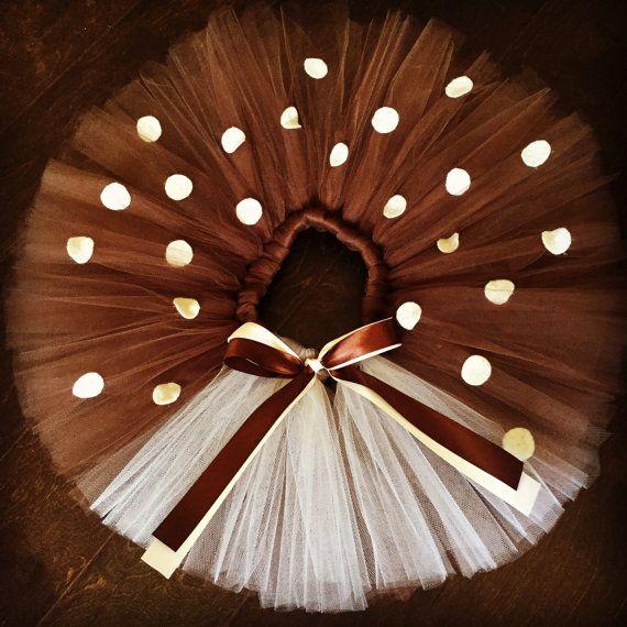 Aktuelle Bearbeitungszeit für diese Tutu beträgt zwischen 3-5 Werktagen. Möchten Sie benutzerdefinierte Nachricht Größe, Teen Größe oder Erwachsene Größe bitte an mich mit Ihrem Kauf Ihren Taillenumfang und Körpergröße. Verwendeten Materialien: Braun-Elfenbein Tüll Braun-Elfenbein Satinband Elastische Elfenbein fühlte sich Flecken