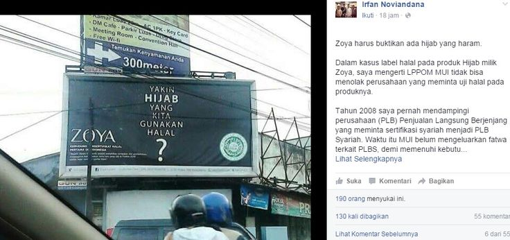 Zoya Harus Buktikan Ada Jilbab Haram