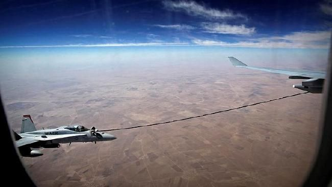 """<p class=""""standfirst-content"""">AN Australian air force tanker jet has come to the rescue of a US F/A-18 Hornet experiencing difficulties over northern Iraq."""