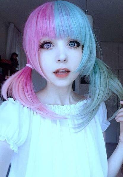 Pastel Goth Queen More hair inspiration at: http://www.hairchalk.co/ #haircolor #hairdye #hairchalk