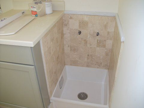 Mud Room Mop Sink With Images Small Bathroom Layout Laundry Room Remodel Mop Sink