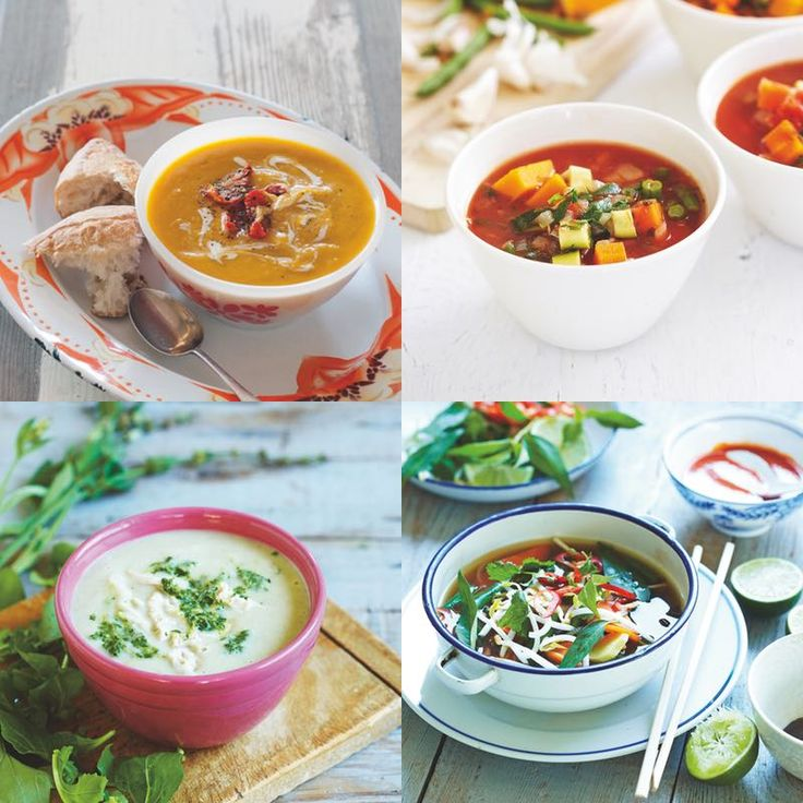 Delicious and hearty soup recipes from the CSIRO Total Wellbeing Diet.