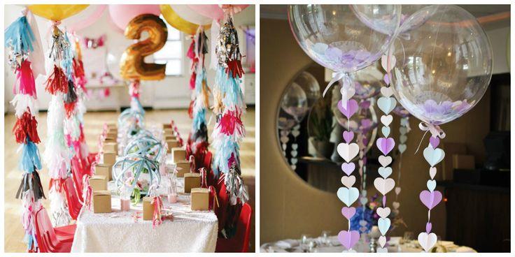 Decoração de festa com baloes e apliques fofos