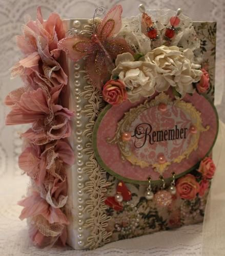 """""""REMEMBER"""" any theme shabby vintage premade scrapbook album by Cindy"""
