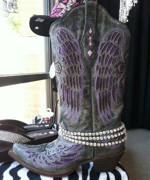 BOOT BLING!!!  Very, very sparkly! Looks great on cowgirl boots, dress boots, ankle boots....etc.