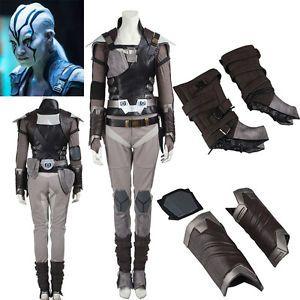 New Arrival Star Trek Beyond Jaylah Cosplay Costume Outfit Custom Size Hallowmas