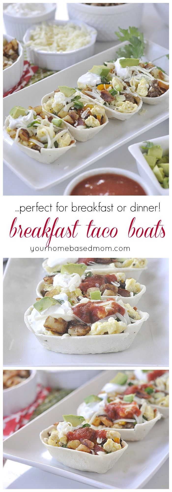 Breakfast Taco Boats - perfect for breakfast or  dinner! @OldElPaso  #TacoBoatSweepstakes  #TacoBoats #ad