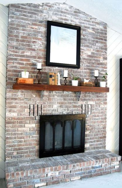 38 Awesome Whitewashed Fireplace Designs | DigsDigs